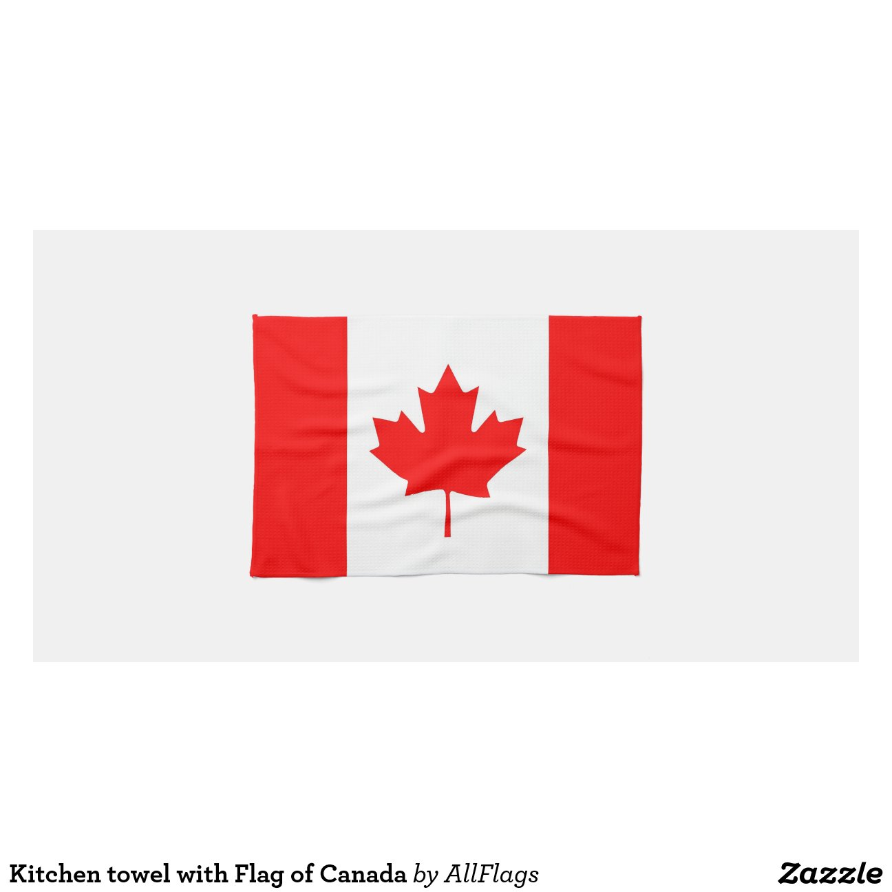 Serviette de cuisine avec le drapeau du canada serviette for Articles de maison anglo canadian s e c