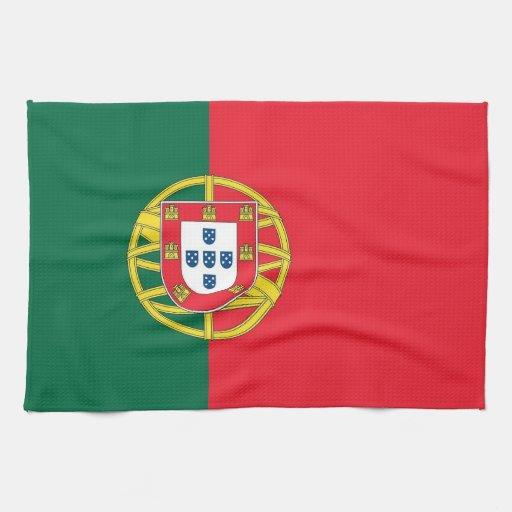 serviette de cuisine avec le drapeau du portugal serviette ponge zazzle. Black Bedroom Furniture Sets. Home Design Ideas