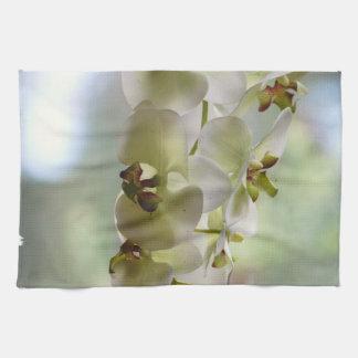 Serviette de cuisine balançante d'orchidées serviette pour les mains