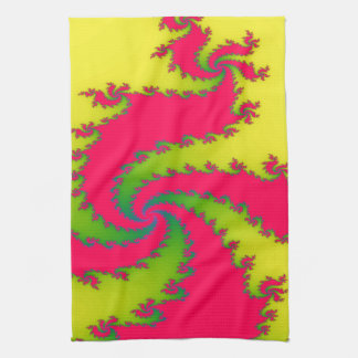 Serviette de cuisine chinoise de fractale de serviettes éponge