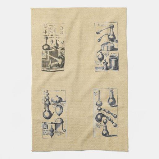 serviette de cuisine d 39 alchimie linge de cuisine zazzle. Black Bedroom Furniture Sets. Home Design Ideas