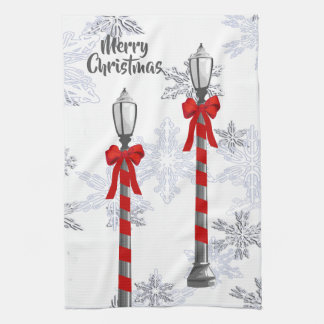 Serviette de cuisine de courrier de lampe de Noël