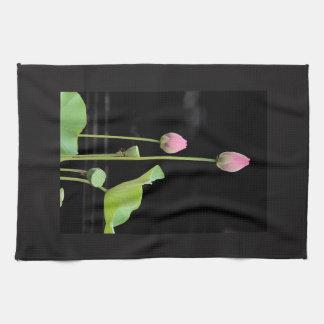 Serviette de cuisine de fleur de nénuphar serviettes éponge