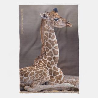 Serviette de cuisine de girafe de bébé