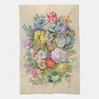 Serviette de cuisine de peinture de fleur serviette pour les mains