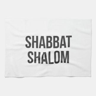 Serviette de cuisine de Shabbat Shalom