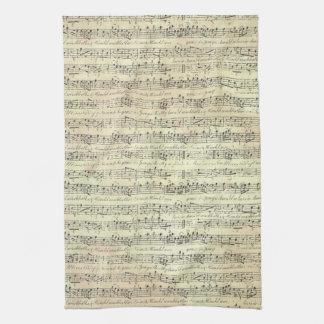 serviette de cuisine de thème de musique de motif serviette éponge