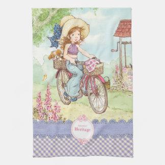 """Serviette de cuisine de """"tour de vélo"""" de Sarah"""
