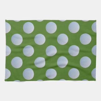 Serviette de cuisine de vert d'herbe de motif de