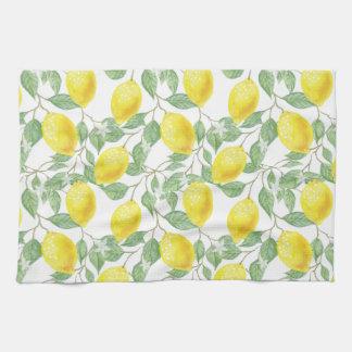 Serviette de cuisine d'impression de citron en
