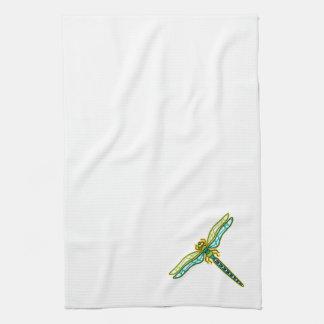 Serviette de cuisine faisante le coin de libellule serviette pour les mains