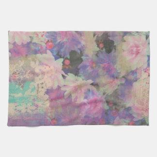 serviette de cuisine florale de motif de fleur