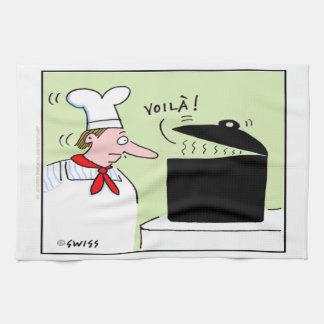 Serviette de cuisine gastronome de bande dessinée