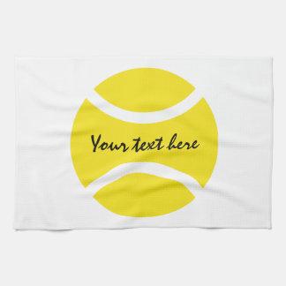 Serviette de cuisine jaune personnalisée de balle serviette pour les mains