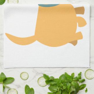 Serviette de cuisine mignonne de Labrador de jaune Linge De Cuisine
