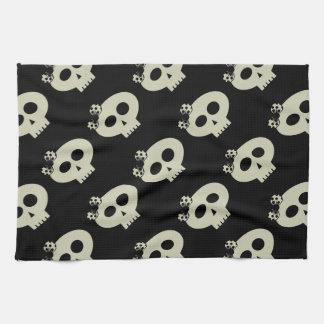 Serviette de cuisine noire de crânes mignons de serviettes pour les mains