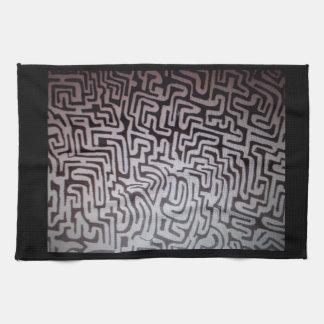 Serviette de cuisine unique avec le labyrinthe