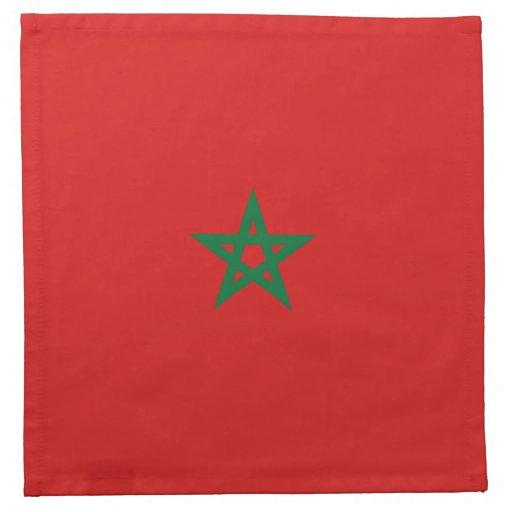 Serviette de drapeau du maroc zazzle - Drapeau du maroc a imprimer ...