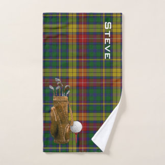 Serviette de golf de plaid de tartan de Buchanan