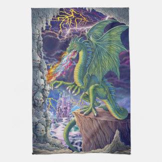 Serviette de la tanière du dragon serviettes éponge