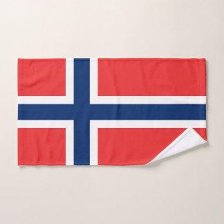Serviette de main avec le drapeau de la Norvège
