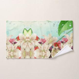 Serviette de main de regard fraîche d'orchidées