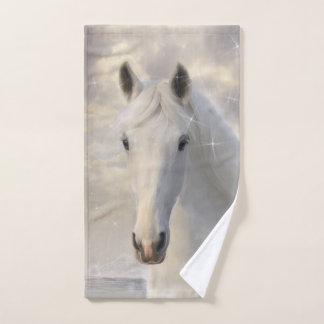 Serviette de main de scintillement de cheval blanc
