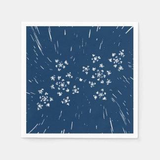 Serviette de papier bleue serviette jetable