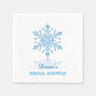 Serviette de papier de flocon de neige de douche serviettes en papier