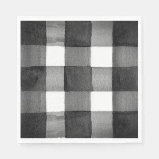 Serviette de papier de guingan d'aquarelle serviettes en papier