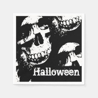 Serviette de papier du crâne   de Halloween Serviette Jetable