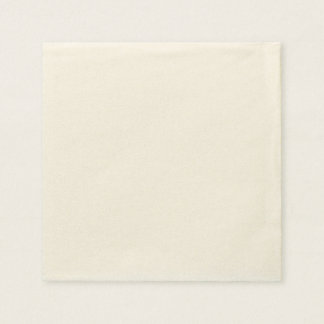 Serviette de papier faite sur commande - Ecru Serviettes Jetables