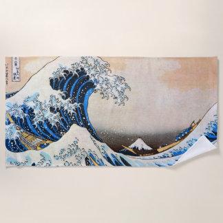 Serviette De Plage 神奈川沖浪裏, grande vague de 北斎, Hokusai, Ukiyo-e