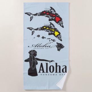 Serviette De Plage Aloha danseur de danse polynésienne d'îles d'Hawaï