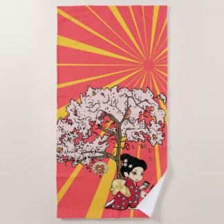 Serviette De Plage art inspiré japonais mignon