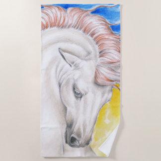 Serviette De Plage Beau cheval andalou d'arc-en-ciel