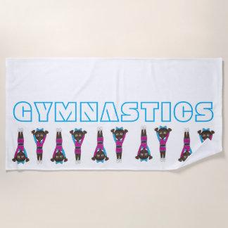 Serviette De Plage Car croulant Acro de gymnase de gymnaste