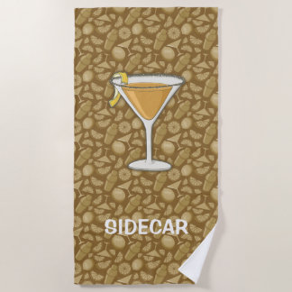 Serviette De Plage Cocktail de sidecar