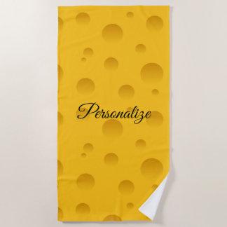 Serviette De Plage Copie jaune drôle personnalisée de fromage suisse