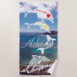 Serviette De Plage Dauphins d'île d'Hawaï