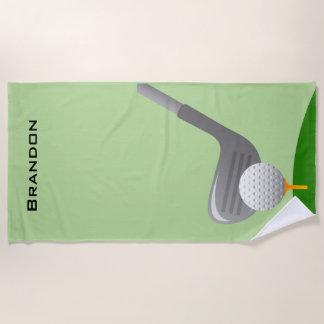 Serviette de plage de conception de golf