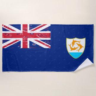 Serviette de plage de drapeau d'Anguilla