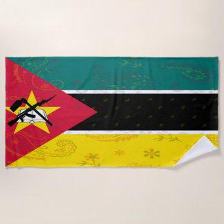 Serviette de plage de drapeau de la Mozambique