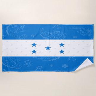 Serviette de plage de drapeau du Honduras