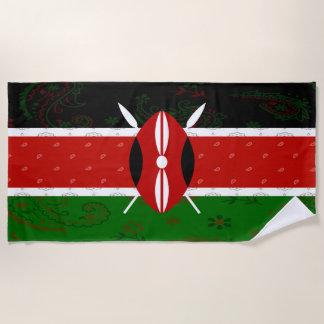 Serviette de plage de drapeau du Kenya