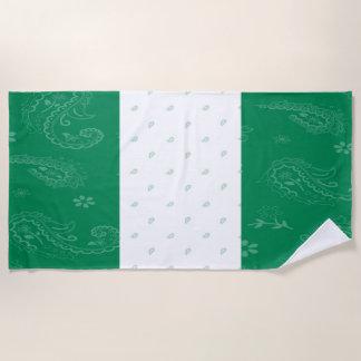 Serviette de plage de drapeau du Nigéria