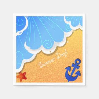 Serviette de plage d'été serviettes en papier