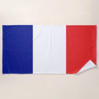 Serviette De Plage Drapeau de Français Tricolore de la France