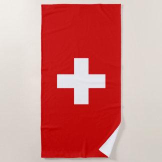 Serviette De Plage Drapeau de la Suisse