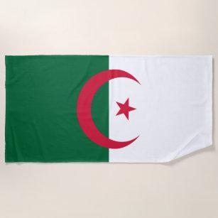 serviette de plage drapeau de lalgrie